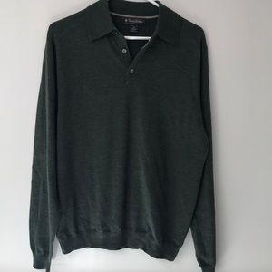Brooks Brothers green wool sweater